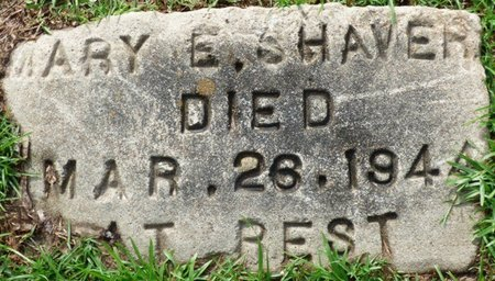 SHAVER, MARY EMMA - Montgomery County, Alabama   MARY EMMA SHAVER - Alabama Gravestone Photos