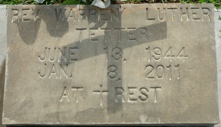 TETTER, WARREN LUTHER - Montgomery County, Alabama | WARREN LUTHER TETTER - Alabama Gravestone Photos