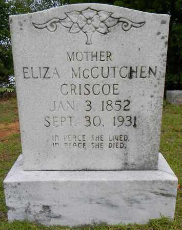 MCCUTCHEN CRISCOE, ELIZA - Morgan County, Alabama   ELIZA MCCUTCHEN CRISCOE - Alabama Gravestone Photos