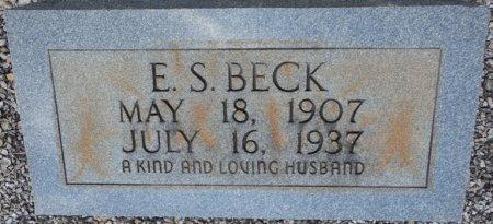 BECK, ERASTUS S - Pike County, Alabama | ERASTUS S BECK - Alabama Gravestone Photos