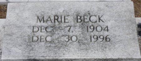 BECK, MARIE - Pike County, Alabama | MARIE BECK - Alabama Gravestone Photos