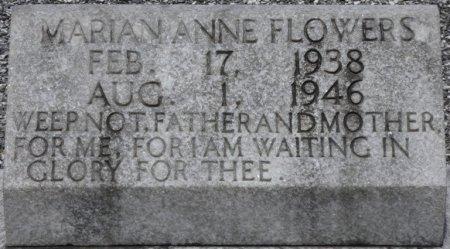 FLOWERS, MARIAN ANNE - Pike County, Alabama | MARIAN ANNE FLOWERS - Alabama Gravestone Photos