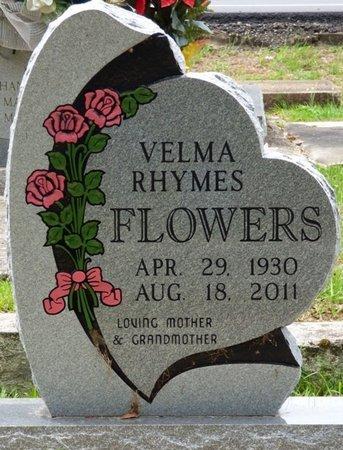 RHYMES FLOWERS, VELMA - Pike County, Alabama   VELMA RHYMES FLOWERS - Alabama Gravestone Photos