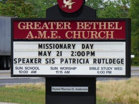 *GREATER BETHEL AME, CHURCH - Pike County, Alabama   CHURCH *GREATER BETHEL AME - Alabama Gravestone Photos