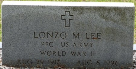 LEE (VETERAN WWII), LONZO M - Pike County, Alabama   LONZO M LEE (VETERAN WWII) - Alabama Gravestone Photos