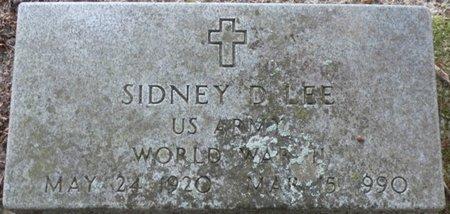 LEE (VETERAN WWII), SIDNEY D - Pike County, Alabama   SIDNEY D LEE (VETERAN WWII) - Alabama Gravestone Photos