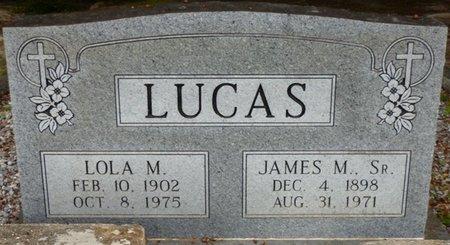 LUCAS SR., JAMES M - Pike County, Alabama | JAMES M LUCAS SR. - Alabama Gravestone Photos